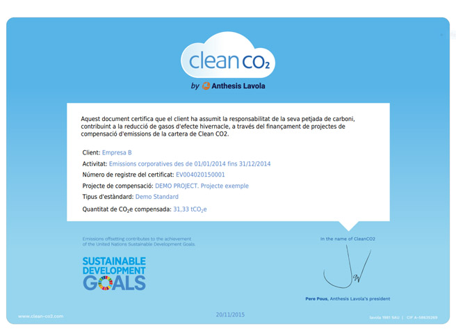 Clean CO2 Certificate